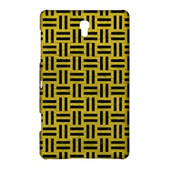 Woven1 Black Marble & Yellow Leather Samsung Galaxy Tab S (8 4 ) Hardshell Case