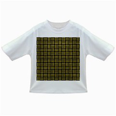 Woven1 Black Marble & Yellow Leather (r) Infant/toddler T Shirts