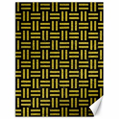 Woven1 Black Marble & Yellow Leather (r) Canvas 18  X 24