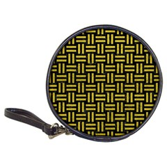 Woven1 Black Marble & Yellow Leather (r) Classic 20 Cd Wallets