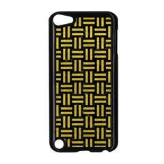 Woven1 Black Marble & Yellow Leather (r) Apple Ipod Touch 5 Case (black)