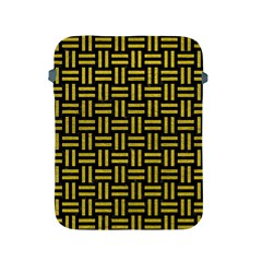 Woven1 Black Marble & Yellow Leather (r) Apple Ipad 2/3/4 Protective Soft Cases