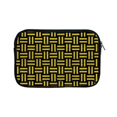 Woven1 Black Marble & Yellow Leather (r) Apple Ipad Mini Zipper Cases
