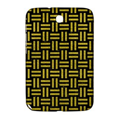 Woven1 Black Marble & Yellow Leather (r) Samsung Galaxy Note 8 0 N5100 Hardshell Case