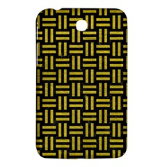 Woven1 Black Marble & Yellow Leather (r) Samsung Galaxy Tab 3 (7 ) P3200 Hardshell Case