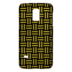 Woven1 Black Marble & Yellow Leather (r) Galaxy S5 Mini