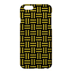 Woven1 Black Marble & Yellow Leather (r) Apple Iphone 6 Plus/6s Plus Hardshell Case