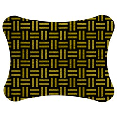 Woven1 Black Marble & Yellow Leather (r) Jigsaw Puzzle Photo Stand (bow)