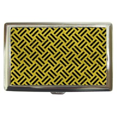 Woven2 Black Marble & Yellow Leather Cigarette Money Cases