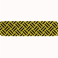 Woven2 Black Marble & Yellow Leather Large Bar Mats