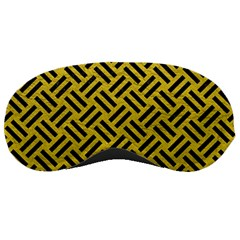 Woven2 Black Marble & Yellow Leather Sleeping Masks
