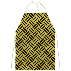 Woven2 Black Marble & Yellow Leather Full Print Aprons