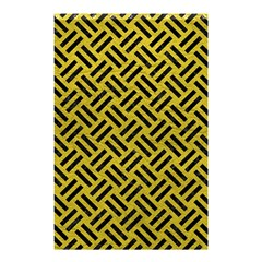 Woven2 Black Marble & Yellow Leather Shower Curtain 48  X 72  (small)