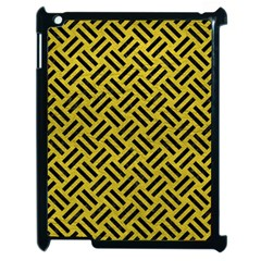 Woven2 Black Marble & Yellow Leather Apple Ipad 2 Case (black)