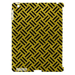 Woven2 Black Marble & Yellow Leather Apple Ipad 3/4 Hardshell Case (compatible With Smart Cover)