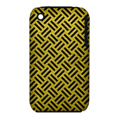 Woven2 Black Marble & Yellow Leather Iphone 3s/3gs