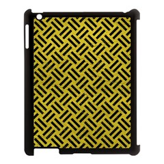 Woven2 Black Marble & Yellow Leather Apple Ipad 3/4 Case (black)