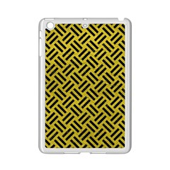 Woven2 Black Marble & Yellow Leather Ipad Mini 2 Enamel Coated Cases