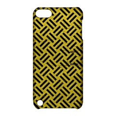Woven2 Black Marble & Yellow Leather Apple Ipod Touch 5 Hardshell Case With Stand