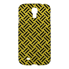 Woven2 Black Marble & Yellow Leather Samsung Galaxy S4 I9500/i9505 Hardshell Case