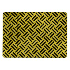 Woven2 Black Marble & Yellow Leather Samsung Galaxy Tab 10 1  P7500 Flip Case