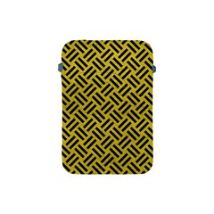 Woven2 Black Marble & Yellow Leather Apple Ipad Mini Protective Soft Cases