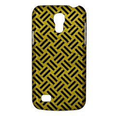 Woven2 Black Marble & Yellow Leather Galaxy S4 Mini