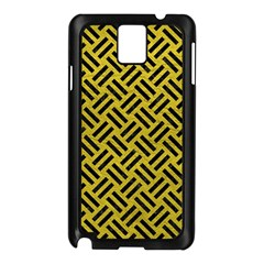 Woven2 Black Marble & Yellow Leather Samsung Galaxy Note 3 N9005 Case (black)
