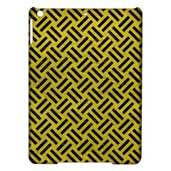 Woven2 Black Marble & Yellow Leather Ipad Air Hardshell Cases