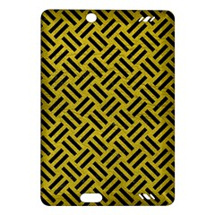 Woven2 Black Marble & Yellow Leather Amazon Kindle Fire Hd (2013) Hardshell Case