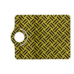 Woven2 Black Marble & Yellow Leather Kindle Fire Hd (2013) Flip 360 Case
