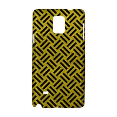 Woven2 Black Marble & Yellow Leather Samsung Galaxy Note 4 Hardshell Case