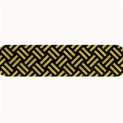 Woven2 Black Marble & Yellow Leather (r) Large Bar Mats