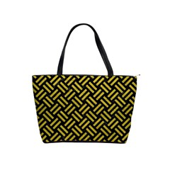 Woven2 Black Marble & Yellow Leather (r) Shoulder Handbags