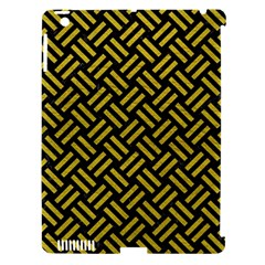 Woven2 Black Marble & Yellow Leather (r) Apple Ipad 3/4 Hardshell Case (compatible With Smart Cover)