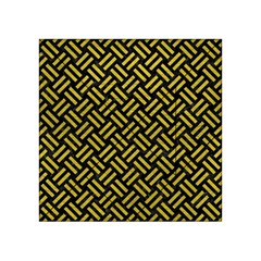 Woven2 Black Marble & Yellow Leather (r) Acrylic Tangram Puzzle (4  X 4 )