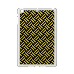 Woven2 Black Marble & Yellow Leather (r) Ipad Mini 2 Enamel Coated Cases