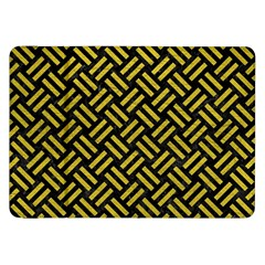 Woven2 Black Marble & Yellow Leather (r) Samsung Galaxy Tab 8 9  P7300 Flip Case