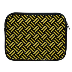 Woven2 Black Marble & Yellow Leather (r) Apple Ipad 2/3/4 Zipper Cases
