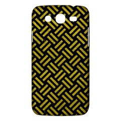 Woven2 Black Marble & Yellow Leather (r) Samsung Galaxy Mega 5 8 I9152 Hardshell Case