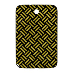 Woven2 Black Marble & Yellow Leather (r) Samsung Galaxy Note 8 0 N5100 Hardshell Case
