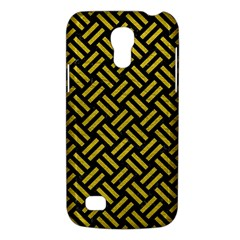 Woven2 Black Marble & Yellow Leather (r) Galaxy S4 Mini