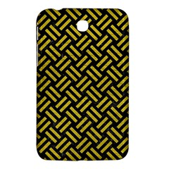 Woven2 Black Marble & Yellow Leather (r) Samsung Galaxy Tab 3 (7 ) P3200 Hardshell Case
