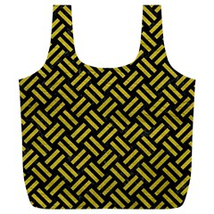 Woven2 Black Marble & Yellow Leather (r) Full Print Recycle Bags (l)