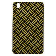 Woven2 Black Marble & Yellow Leather (r) Samsung Galaxy Tab Pro 8 4 Hardshell Case