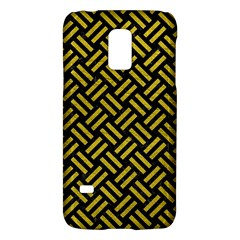 Woven2 Black Marble & Yellow Leather (r) Galaxy S5 Mini