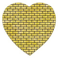 Brick1 Black Marble & Yellow Watercolor Jigsaw Puzzle (heart)
