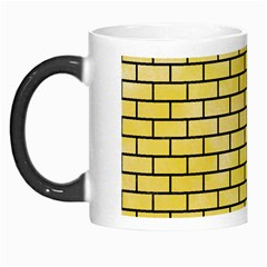 Brick1 Black Marble & Yellow Watercolor Morph Mugs