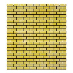 Brick1 Black Marble & Yellow Watercolor Shower Curtain 66  X 72  (large)