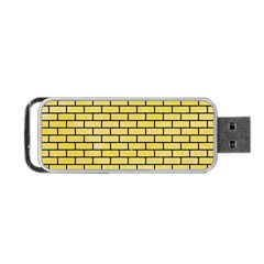 Brick1 Black Marble & Yellow Watercolor Portable Usb Flash (two Sides)